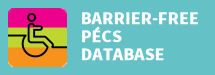 barrier-free Pécs database button