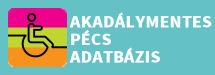 akadálymentes Pécs adatbázis gomb